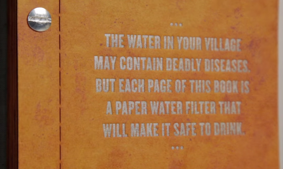 Drinkable Book, water filter