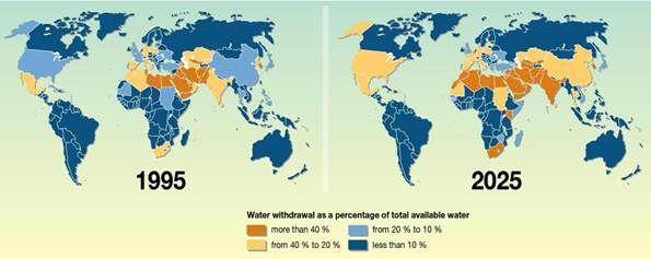 world drought map